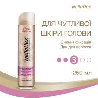 Лак для волосся Wellaflex для Чутливої Шкіри голови Сильна Фіксація 3, 250 мл
