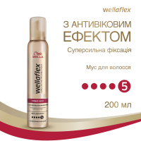 Мус для волосся Wellalex Power Hold 200мл