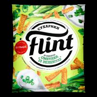 Сухарики Флінт пшенично-житні сметана із зеленню 70г