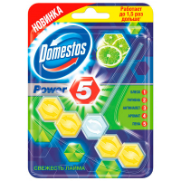 Блок для унітаза Domestos Power 5 свіжість лайму 55г