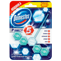 """Туалетний блок Domestos Power 5 """"З хлором"""", 55 г"""