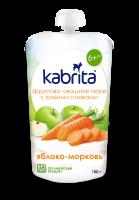 Пюре Kabrita Фруктове яблуко-морква 6міс.+ 100г