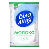 Молоко Біла Лінія ультрпастеризоване 1,5% 900г