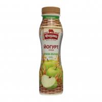 Йогурт Ферма 0,8% злаки-яблуко 250г
