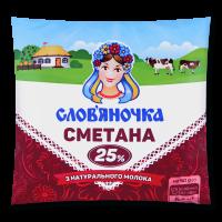 Сметана Слов`яночка 25% п/е 380г