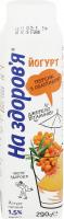 Йогурт На Здоров`я персик-обліпиха 1,5% тетра-пак 290г