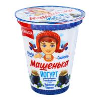 Йогурт Машенька 5% Чорничне варення стакан 270г