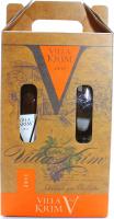 Вино Villa Krim Мускат Виналь біле напівсолод.0,75л+келих х6
