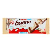 Вафлі Kinder Bueno White молочно-горіхова начинка 39г