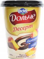 Десерт Lactel Дольче Персик з шоколадом 3,4% 400г х6