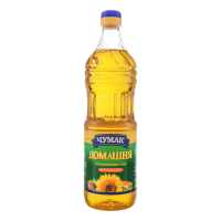 Олія соняшникова Чумак Домашня нерафінована 0,9л