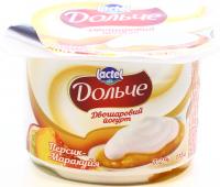 Йогурт Lactel Дольче персик-маракуйя 3,2% 115г х12