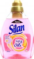 Засіб Silan Soft&Oils пом`якшувач тканин рожевий 750мл