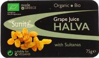 Халва Sunita кунжутна з виноградним соком та родз. 75г х24