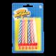 Свічка Веселая Затея для торту 8,5см 12шт. арт.1502-0182