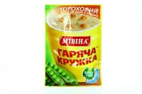 Суп-пюре Мівіна Гороховий з грінками 19г х32