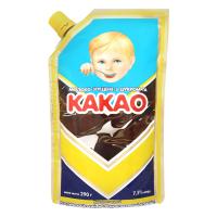 Молоко згущене Первомайськ і цукром та какао дой-пак 290г х30
