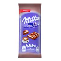 Шоколад Milka Bubbles пористий капучино 97г