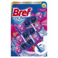 Туалетний блок Bref Color Aktiv Квіткова свіжість, 3 шт.