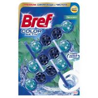 Туалетний блок Bref Color Aktiv Евкаліпт, 3 шт.