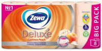 Туалетний папір Zewa Deluxe Cashmere Peach, 8 шт.
