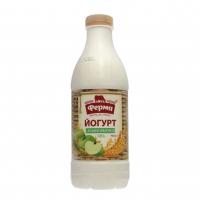 Йогурт Ферма 0,7% злаки-яблуко 900г