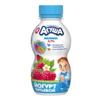 Йогурт Агуша питний Малина 2,7% 200г х24