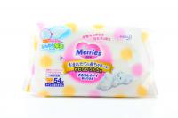 Дитячі серветки вологі гігієнічні Merries, 54 шт.