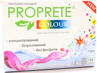 Пральний порошок безфосфатний концентрований для кольорових тканин Proprete Color, 1 кг