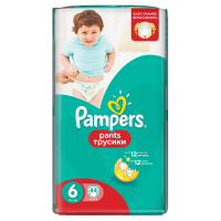 Підгузники-трусики Pampers Pants Extra Large 6 16+ 44шт.