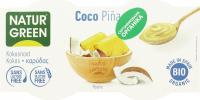 Десерт органічний Natur Green з кокоса з ананасом 2шт