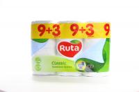 Туалетний папір Ruta Classic Білий, 12 шт.