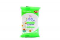 Серветки Lady Cotton Intimate вологі 15шт х6