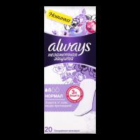 Щоденні гігієнічні прокладки Always Непомітний Захист Normal, 20 шт.