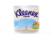 Туалетний папір Kleenex Cottonelle Natural Care Білий, 4 шт.