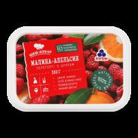 Суміш Рудь малина-апельсин перетерті з цукром 350г х10