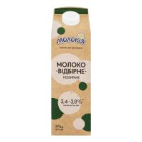 Молоко Молокія Відбірне незбиране 3,8% п/п 870г х6