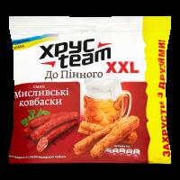 Сухарики Хрус Team До Пінного мисливські ковбаски 110г х48