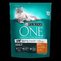 Корм Purina One для дорослих котів з куркою 800г х24