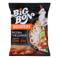 Локшина Big Bon рисова по-тайськи з соусом Том Ям 65г