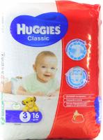Підгузники Huggies Classic 3 4-9кг 16шт .