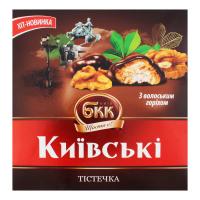 Тістечка БКК Київські з волоським горіхом 200г х6