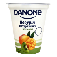 Йогурт Danon натуральний манго-ківі 2,5% 260г х9
