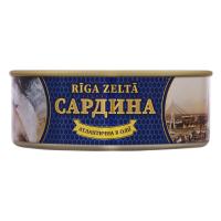Сардина Riga Zelta в олії ж/б ключ 240г х24