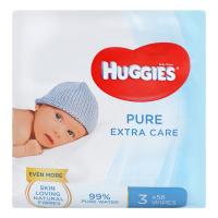 Дитячі серветки вологі гігієнічні Huggies Pure Extra Care, 168 шт.