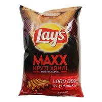 Чіпси Lays Max Бекон круті хвилі Пікантна паприка 120г х24