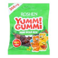 Цукерки Roshen Yummi Gummi Mini Bear Mix желейні 200г х15