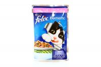 Корм Felix Fantastic з фореллю та бобами для котів 100г х60