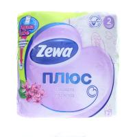 Папір туалетний Zewa плюс Aqua tube 2-х шаровий 4шт х6