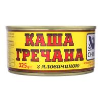 Каша Онісс гречана з яловичиною ж/б 325г х18